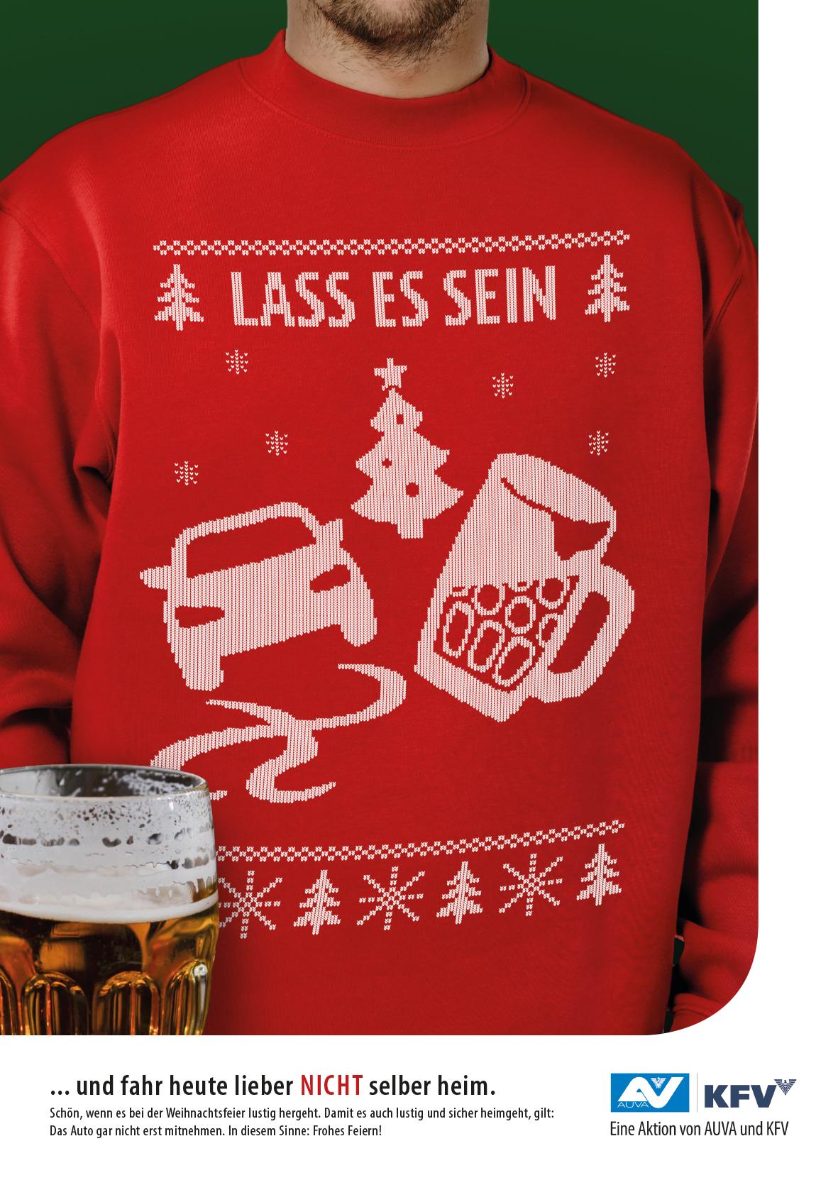 Alkohol Weihnachtsfeier.Kfv Aktionen Plakataktion Weihnachtsfeier